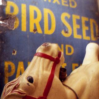 bird seed rocking horse