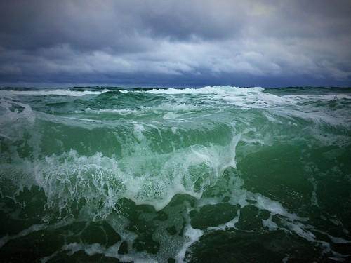 ocean beach waves northcarolina atlanticocean emeraldisle tidalwaves iphonephotography iphone5s