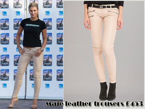 Maje leather trousers with a cropped t-shirt