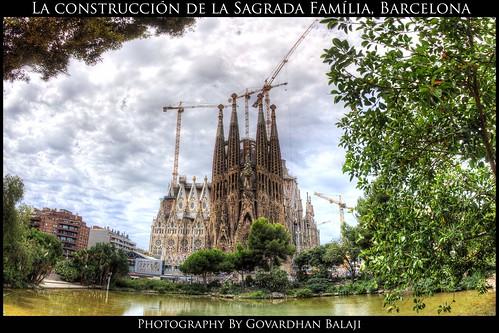HDR Panorama: La construcción de la Sagrada Familía, Barcelona