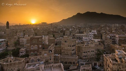 architecture sunrise cityscape middleeast landmark yemen sanaa sana