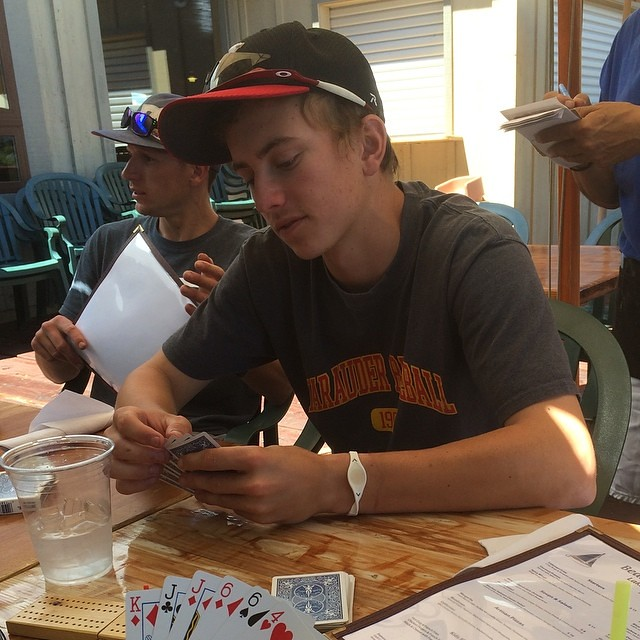 Cribbage at Plumas Pines - 2014 Lake Almanor Day 4 - #lake_almanor_2014