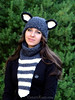 The Teen/Adult Raccoon Hat & Cowl Set