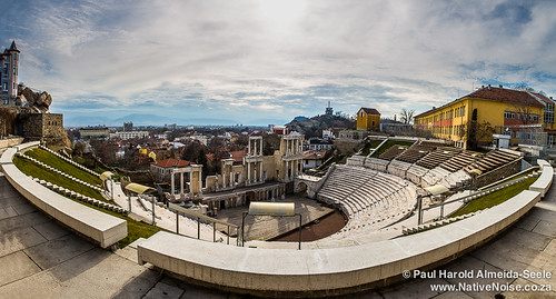 winter vacation panorama holiday march europe view amphitheatre bulgaria viewpoint bg plovdiv