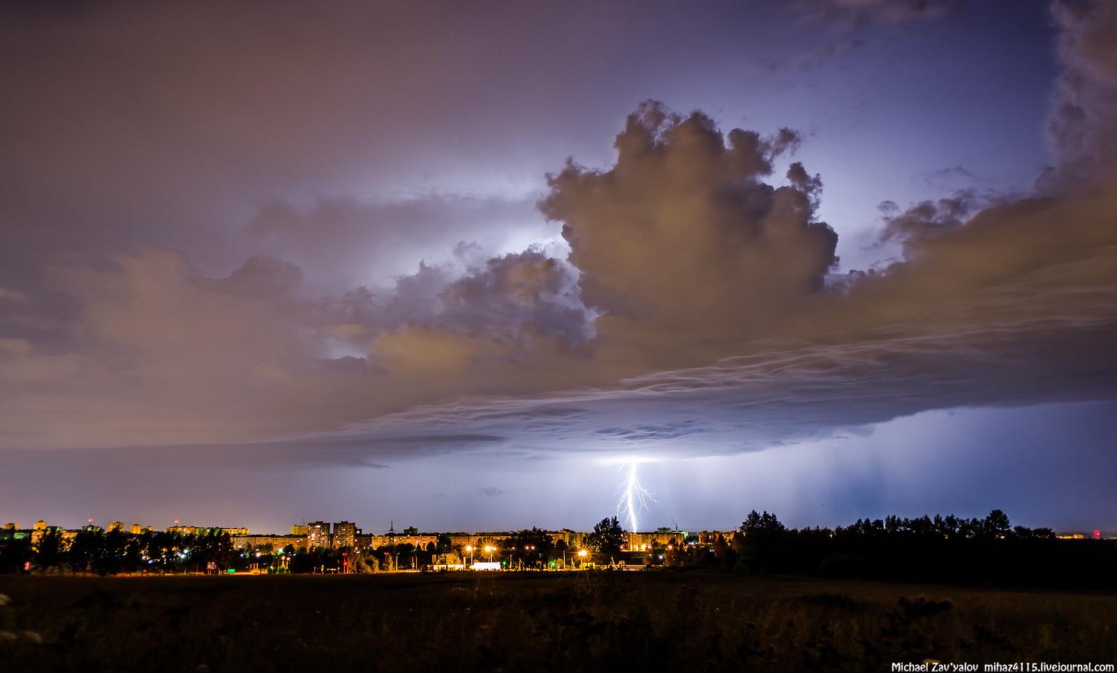 Night Thunder Storm 28 July 2014