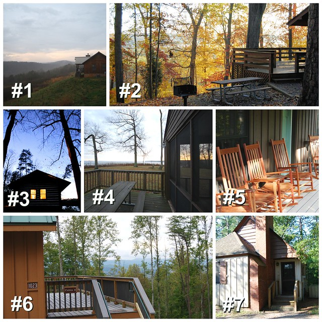 Typical Cabins At Various Virginia State Parks