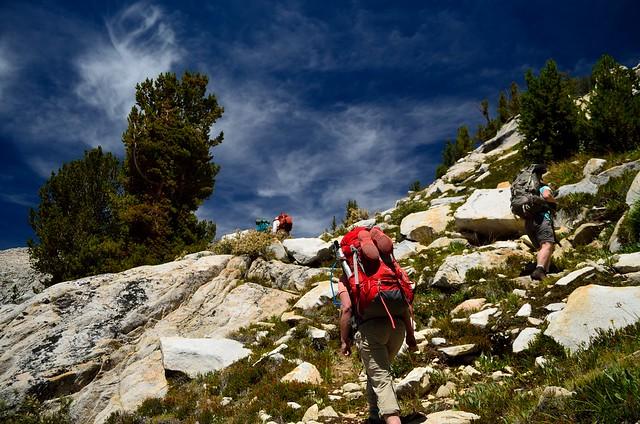 Climbing to Cartridge Pass