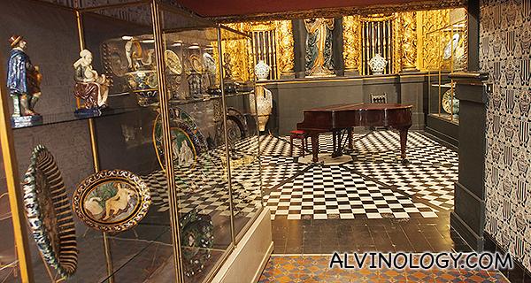 A piano room