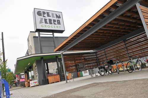 Bike parking at Green Zebra Grocery-16