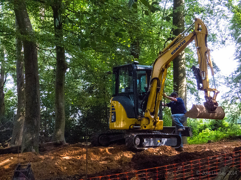 Making a new path in the Woodland Walk
