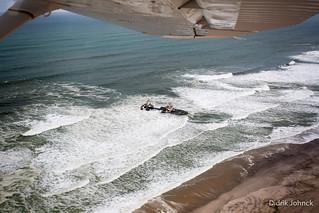 Aerial of Shipwreck on Skeleton Coast Namibia