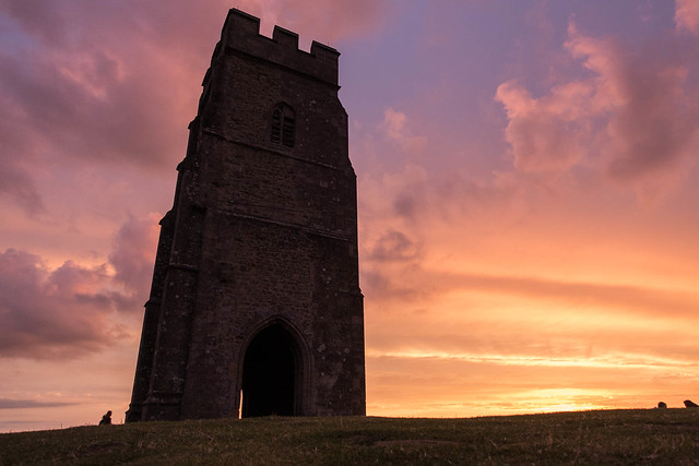 Glastonbury Tor at sunset