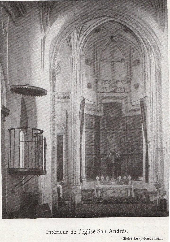 Iglesia de San Andrés a comienzos del siglo XX. Fotografía de la colección Lévy-Neurdein publicada en su libro Les Villes d´Art Célebres: Tolède (1925) por Élie Lambert