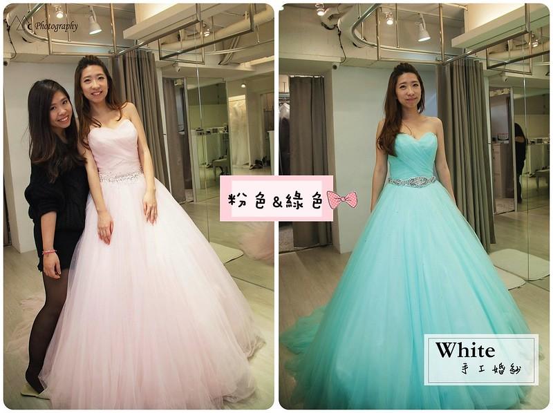 WHITE  粉綠色禮服