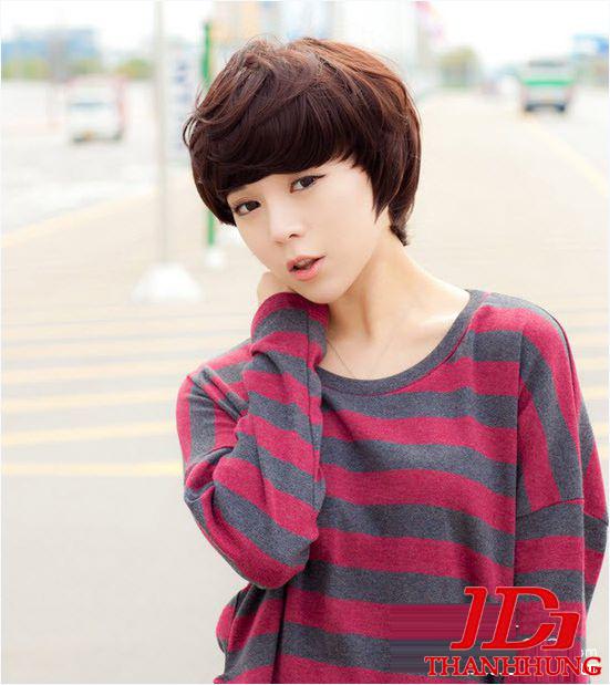 Các kiểu tóc ngắn đẹp! Tóc ngắn ép, uốn xoăn Hàn Quốc 4