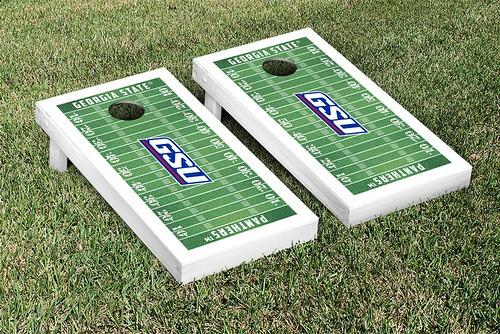 Georgia State Panthers Cornhole Game Set Football Field Version