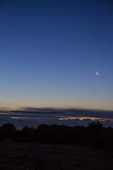 Moon Venus & Jupiter Conjunction over Leeds
