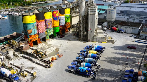 Os Gemeos' 'Giants' at Ocean Cement on Granville Island