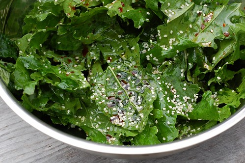 Sesame Soy Kale Chips by Eve Fox, the Garden of Eating, copyright 2014