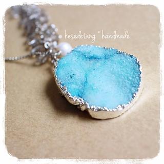 Agate Sliced Druzy Necklace