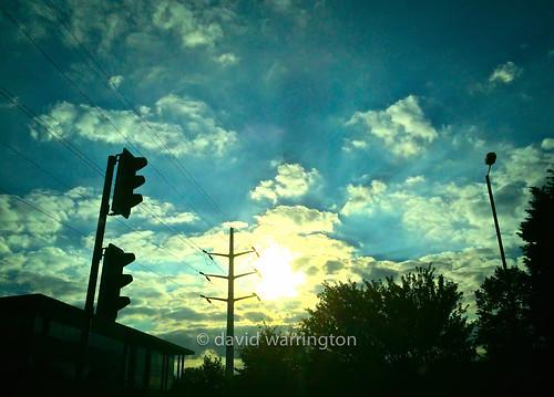 city blue cambridge light sunset shadow england urban abstract apple silhouette unitedkingdom dusk dramatic smartphone milton photostream iphone iphone5