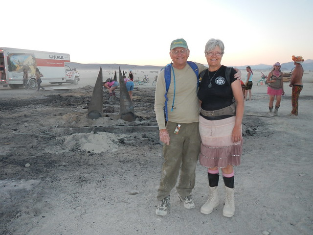 Louise and me the morning after the Burn