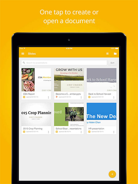 google releases new google slides presentation app for iphone