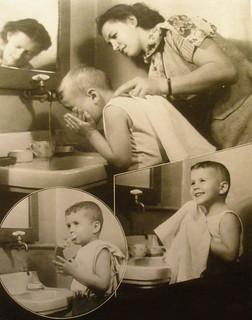 научите детей самостоятельно умываться и чистить зубы