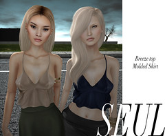 // SEUL \\ Molded Skirt & Breeze Top Close