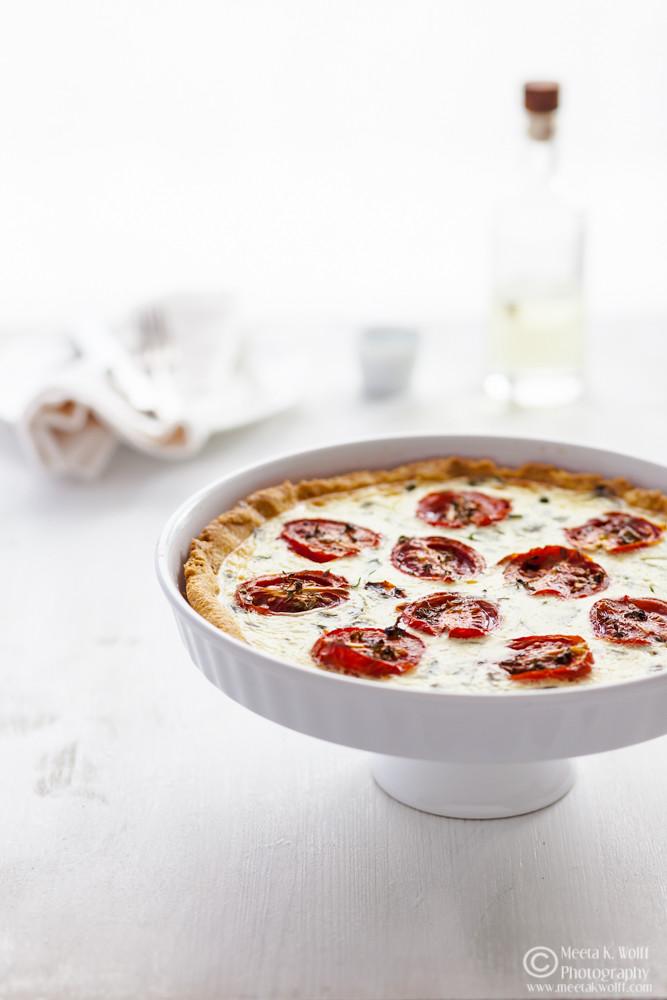 Polenta Tomato Basil Tart (0055)