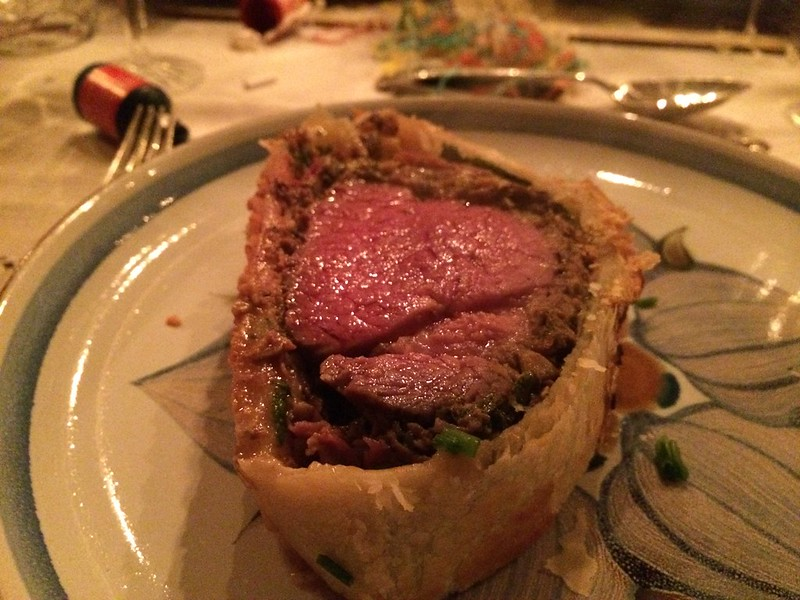 Beef Wellington : Served on the plate