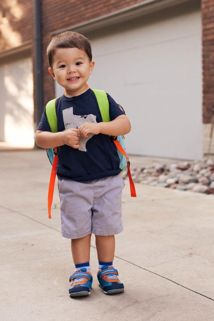 cute & little | dylan's first day of preschool
