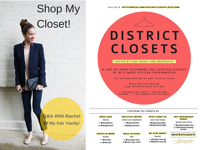 district closets my fair vanity secondhand shopping secondi DC