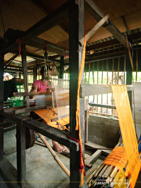 Pedal Frame Loom for Abel Weaving in Ilocos