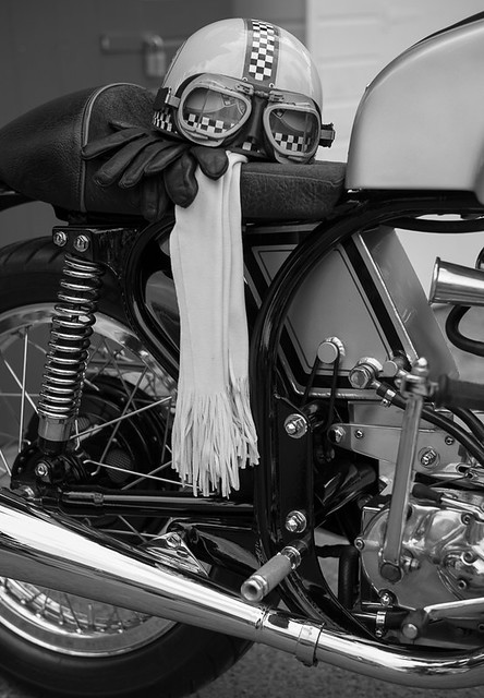 Helmet, gloves and scarf - Goodwood Revival