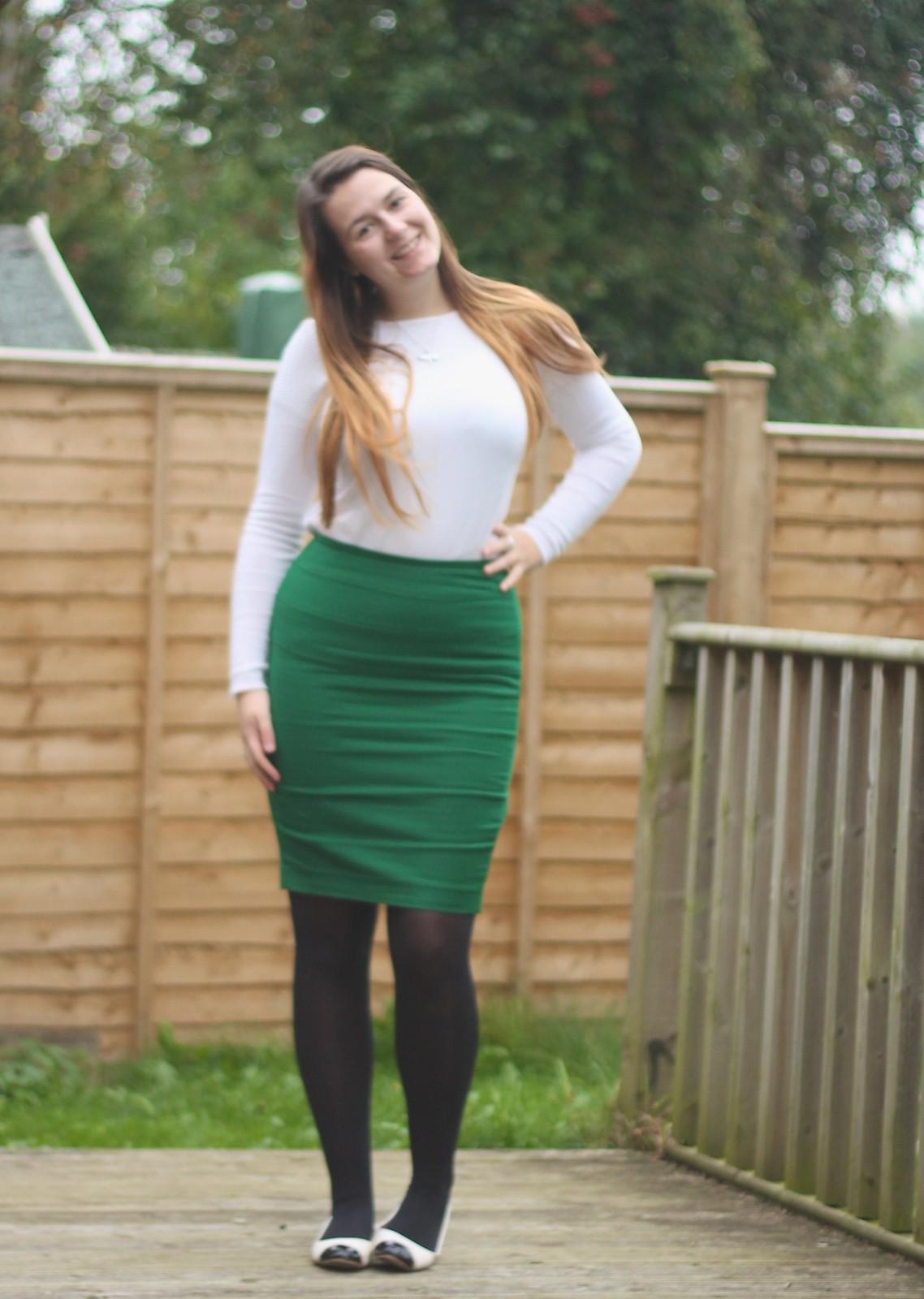 Pencil skirt & jumper