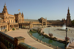 Plaza de España - Seville (High view)