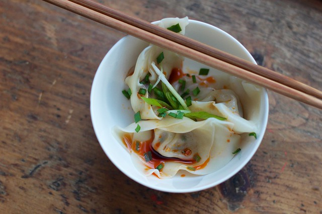 Pork Wonton in Sichuan Chili Oil (1)
