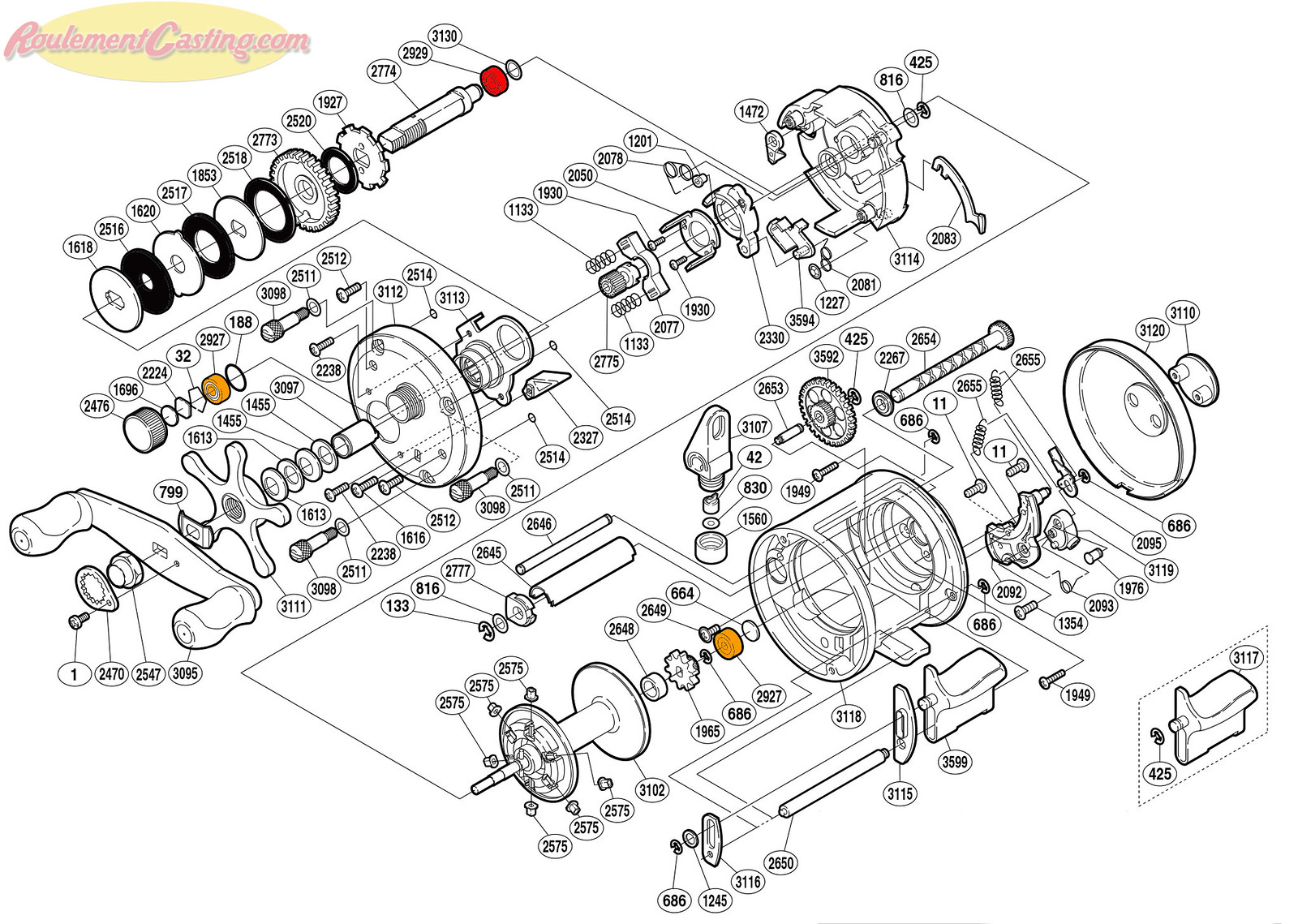 Schéma Shimano 05' CARDIFF 401A