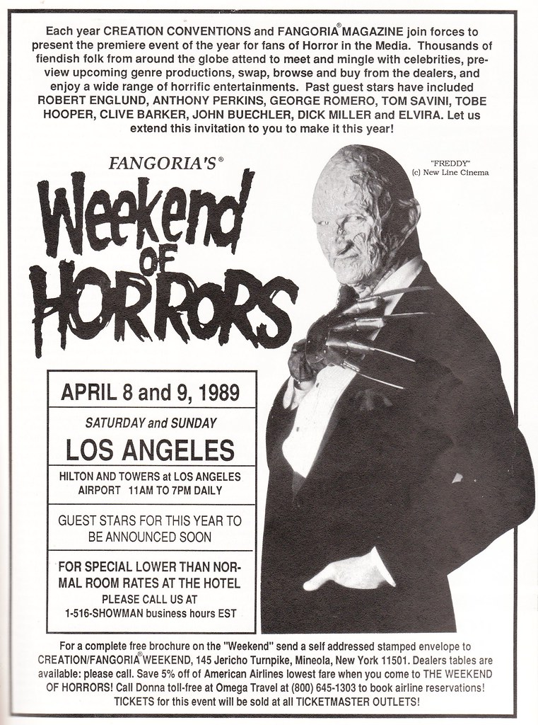 Weekend of Horrors 1989