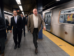 Governor Cuomo and Chairman Prendergast on Subway