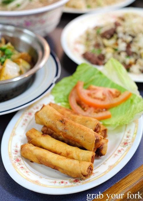 Spring rolls at Pho Toan Thang, Flemington