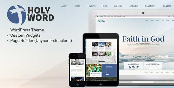 Holy Word WordPress Theme free download