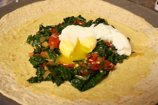 Egg and Kale Breakfast Wrap