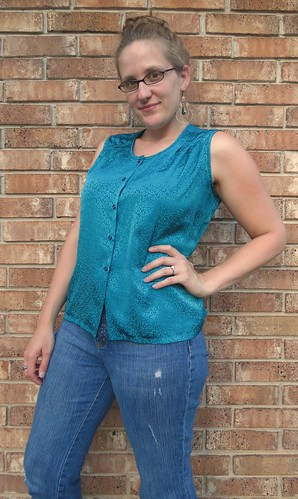 Teal Blouse - After