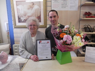 Volunteer Hilda wins award