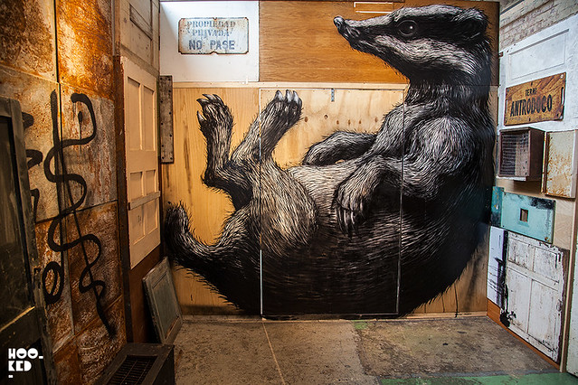 ROA's 'PROJECTUM 06' Installation at Stolen Space London.