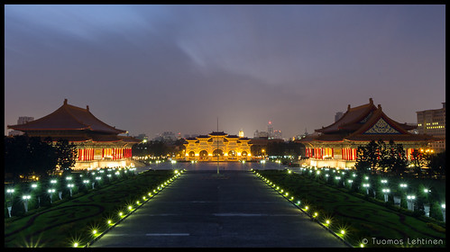building architecture night canon dark square landscape outdoors eos lights evening hall memorial cityscape view dusk taiwan nobody tourist illuminated destination taipei lit chiang attraction nightfall kaishek 1755mm 60d