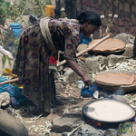 Making Injera (Ethiopian Flatbread) in Village near Lalibela, Ethiopia