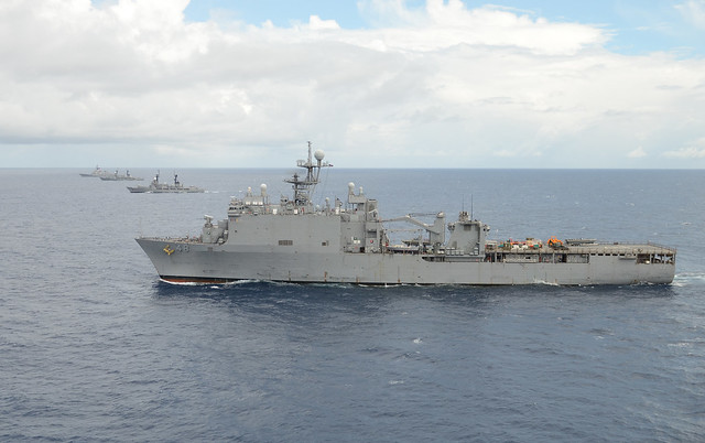 SOUTH CHINA SEA -- The forward-deployed Amphibious Dock Landing Ship USS Ashland (LSD 48), and it's embarked Sailors and Marines, is participating in exercise Cooperation Afloat Readiness and Training (CARAT) 2014 with the Philippine Marines Corps and Navy.